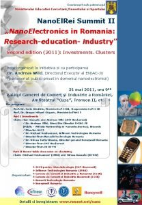 Eveniment sub patronajul Ministerului Educatiei Cercetarii Tineretului si