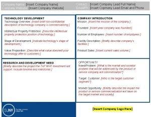 Company Name Insert Company Name Company Website Insert