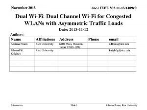 November 2013 doc IEEE 802 11 131409 r