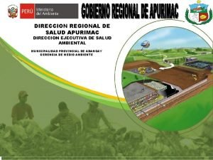 DIRECCION REGIONAL DE SALUD APURIMAC DIRECCION EJECUTIVA DE