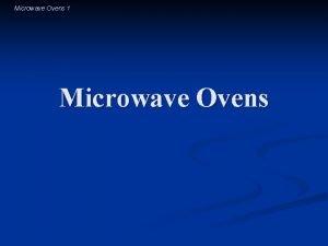 Microwave Ovens 1 Microwave Ovens Microwave Ovens 2