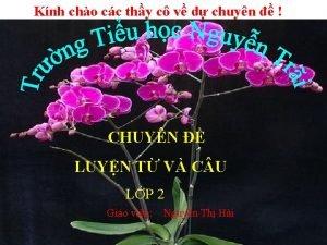 Knh cho cc thy c v d chuyn
