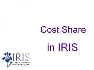 Cost Share in IRIS Cost Share in IRIS