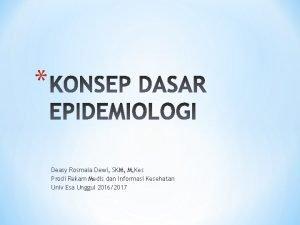 Deasy Rosmala Dewi SKM M Kes Prodi Rekam