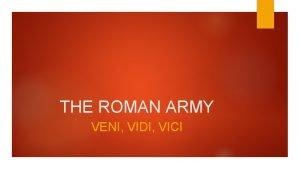 THE ROMAN ARMY VENI VIDI VICI SOLDIERS LETTERS