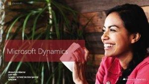 Microsoft Dynamics Microsoft Dynamics from Marketing to Service