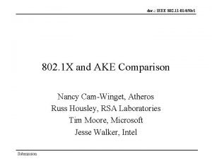 doc IEEE 802 11 01650 r 1 802