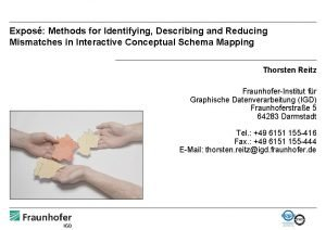 Expos Methods for Identifying Describing and Reducing Mismatches