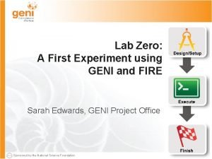 Lab Zero A First Experiment using GENI and
