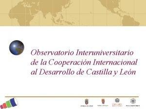 Observatorio Interuniversitario de la Cooperacin Internacional al Desarrollo