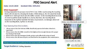 PDO Second Alert Date 24 03 2020 Incident
