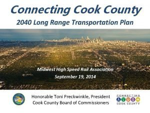 Connecting Cook County 2040 Long Range Transportation Plan