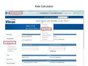 Rate Calculator Tariff Rate q Tariff Rate is