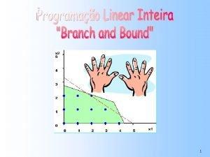 1 Programao Linear Inteira Pura PLIP Modelo linear