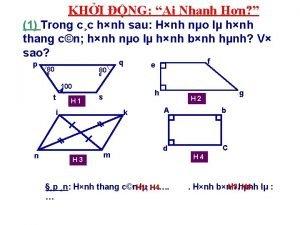 KHI NG Ai Nhanh Hn 1 Trong cc