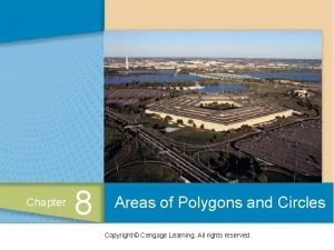 Chapter 8 Areas of Polygons and Circles Copyright