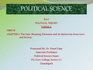 POLITICAL SCIENCE B A I POLITICAL THEORY PAPERA