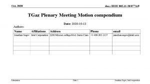 Oct 2020 doc IEEE 802 11 200771 r