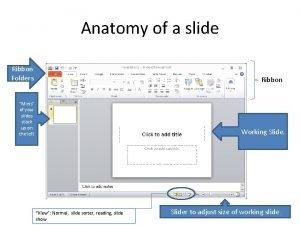 Anatomy of a slide Ribbon Folders Ribbon Minis