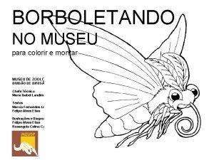BORBOLETANDO NO MUSEU para colorir e montar MUSEU