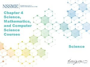 Chapter 4 Science Mathematics and Computer Science Courses