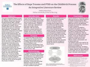 The Effects of Rape Trauma and PTSD on