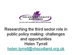 Researching the third sector role in public policy