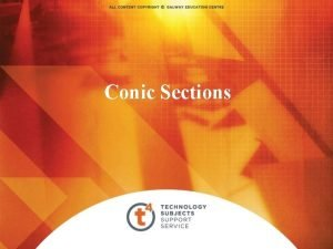 Conic Sections Table of Contents Four Conic Sections