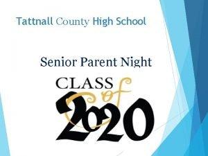 Tattnall County High School Senior Parent Night Herff