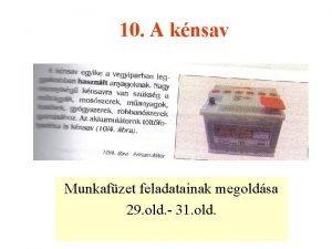 10 A knsav Munkafzet feladatainak megoldsa 29 old
