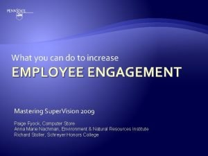 What you can do to increase EMPLOYEE ENGAGEMENT