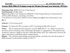 March 2004 doc IEEE 802 15 040277 00