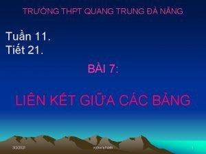 TRNG THPT QUANG TRUNG NNG Tun 11 Tit