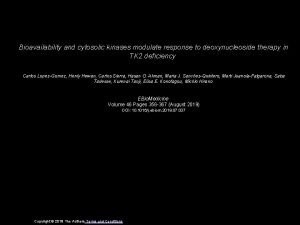 Bioavailability and cytosolic kinases modulate response to deoxynucleoside
