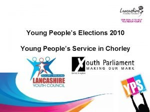 Young Peoples Elections 2010 Young Peoples Service in