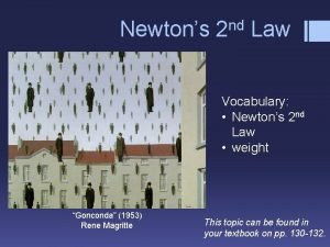 nd Newtons 2 Law Vocabulary Newtons 2 nd