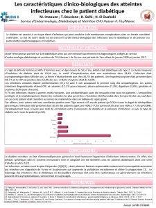 Les caractristiques clinicobiologiques des atteintes infectieuses chez le