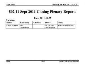 Sept 2011 doc IEEE 802 11 111342 r