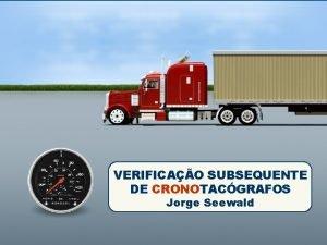 Capa VERIFICAO SUBSEQUENTE DE CRONOTACGRAFOS Jorge Seewald Verificao