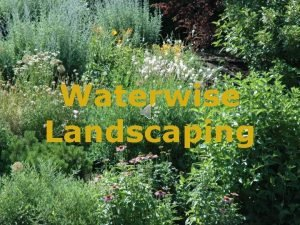 Waterwise Landscaping Purpose of Landscaping Beauty Conservation Utility