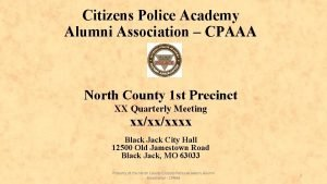 Citizens Police Academy Alumni Association CPAAA North County