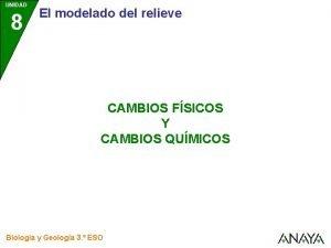 UNIDAD 8 El modelado del relieve CAMBIOS FSICOS