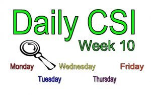 Week 10 Monday CSI Challenge 10 Word Scramble
