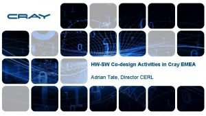 HWSW Codesign Activities in Cray EMEA Adrian Tate