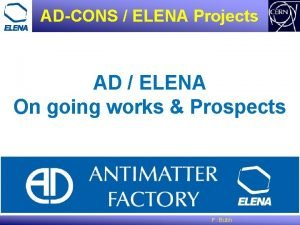ADCONS ELENA Projects AD ELENA On going works