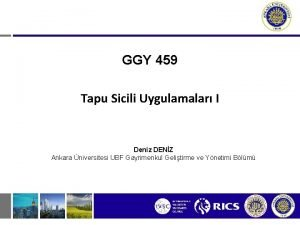 GGY 459 Tapu Sicili Uygulamalar I Deniz DENZ