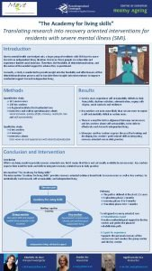The Academy for living skills Translating research into