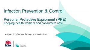 Infection Prevention Control Personal Protective Equipment PPE Keeping