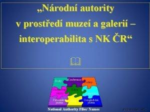 Nrodn autority v prosted muze a galeri interoperabilita