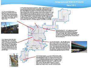 Congressional District Projects New CD1 I25 over the